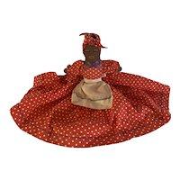 Vintage 1930s Folk Art Black Americana Hand Made Doll