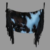 Maurizio Taiuti cow print pony hair leather tote bag purse