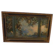 "Vintage MAXFIELD PARRISH Original DAYBREAK Framed Print 13""x 21"" House of Art NY"