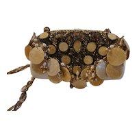 Original Mary Francis Sea Shell and Pearl purse