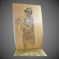 Original artist sketch book with many orig Drawings Art Nouveau Era