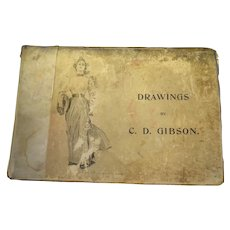 Drawings by C.D Gibson 1896 Antique Book