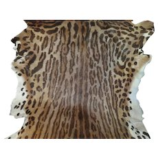 """Vintage Cat Leopard Animal Skin 49x30""""Rug Fur"""