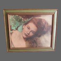 "Vintage Mid century Pin up Glamour Model Print 21x25"""