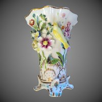 Antique Porcelain VASE English, Copeland And Garrett Victorian Circa 1840