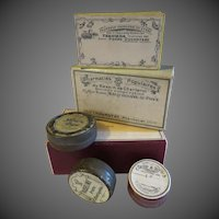 Original vintage French pharmaceutical boxes