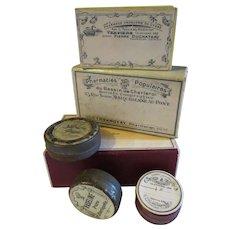 Original vintage French pharmaceutical boxes