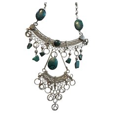 Vintage Turquoise Gypsy Necklace