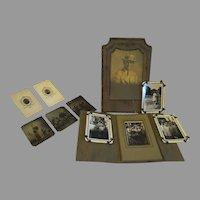 Antique miniature Photographs Art Nouveau photos & Tin Types