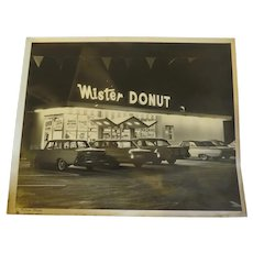 Original Vintage 1950s Mr Donut Photograph clear water Florida