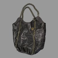 Black Leather  with chains The Sak Hobo large Purse