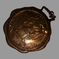 Solid Bronze Eagle military Watch Fob
