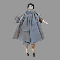 "Antique China Head Doll w/ orig Alphabet body 9"" 1800s"