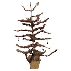 """Vintage  christmas feather foil tree 32"""" OLD"""
