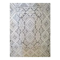 Magnificent handmade antique hand crocheted bed cover