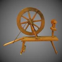 Antique Childs wooden spinning wheel