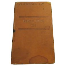 Book: K&E Field Engineer's Book 361. Made by Keuffel & Esser Co., N.Y. copyright 1895