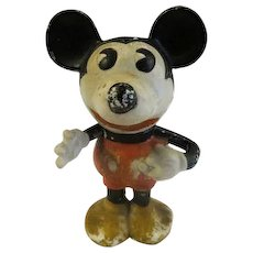 Vintage 1930's Walt E. Disney Mickey Mouse Character Bisque Toothbrush Holder figure