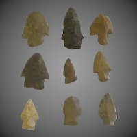 Antique Authentic Native American Indian Arrow heads nine pcs