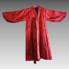 Vintage Red silk Japanese Kimono