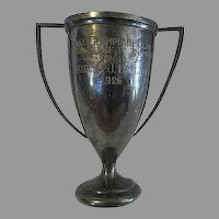 Vintage 1926 Lake Champlain Club silverplate Golf Trophy Charles J Bellamy