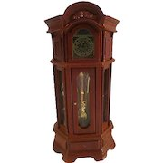 Vintage Working Grandfather Clock Dollhouse Miniature By Reutter Porcelain of Germany