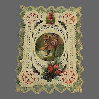 Old Lace cut out Valentines card Early 1800s