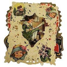 Vintage Old Lacy Valentine Card
