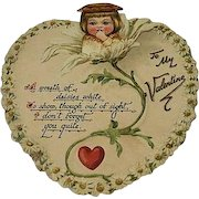Vintage Heart shaped pop up Valentines day card
