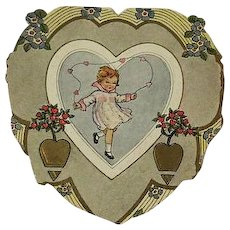 Art Nouveau Vintage heart shaped Valentines day card