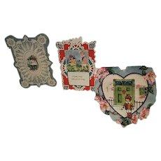 Vintage x3 Valentine Cards