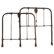 Antique Civil War Medical  Confederate Iron hospital bed Frame