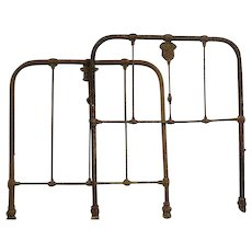 Antique Civil War Medical  Confederate Iron hospital bed Frame