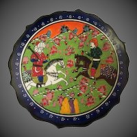 Vintage Hand painted Turkish Kutahya Porcelain Plate in box