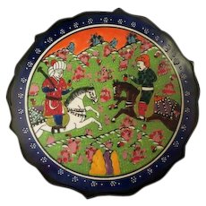 Vintage Hand painted Turkish Kutahya Porcelain Plate in box