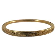 Vintage childs gold filled bangle bracelet