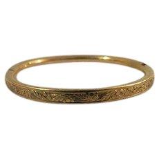 Vintage childs gold filled bangle bracelet