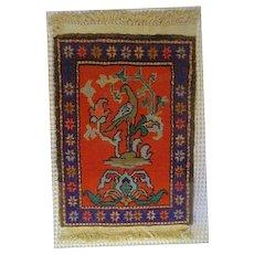 Vintage wool Hand knotted Turkish Prayer Rug