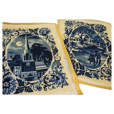 Vintage set of two Midnight in Paris Needlepoints