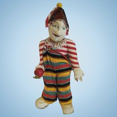 Vintage Harlequin Hand painted signed by Artist DOLL