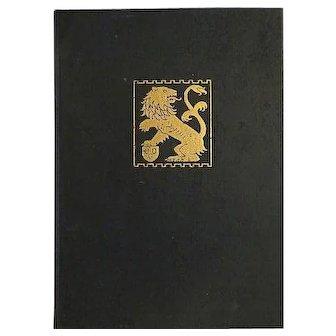 Vintage The bronze lion 1925 yearbook chicago art institute BOOK :RARE