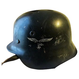 WWII German Luftwaffe  Helmet Original Historical world war two