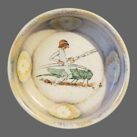 """Antique Rare """"Struwwelpeter"""" Victorian childs Bowl The Story of Little Suck-a-Thumb"""
