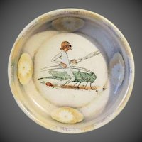 "Antique Rare ""Struwwelpeter"" Victorian childs Bowl The Story of Little Suck-a-Thumb"