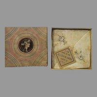 Vintage Art Nouveau Souvenir boxed hankies ALLEGAYNIANNA S.T.C
