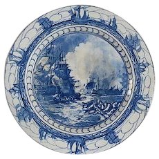 Vintage-Royal-Doulton-Blue-and-White-Transfer-ware-Battle-of-Nile