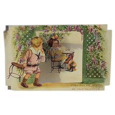 Vintage Pop up standing Valentines day Card