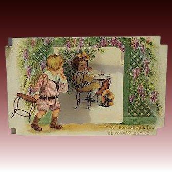 Vintage Pop up standing Valentines day Card