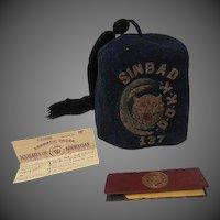 Antique 1914 Knights Of Khorassan Sinbad #137 Mens Club