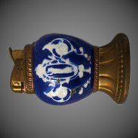 Vintage Cobalt blue Evans enamel  Lighter